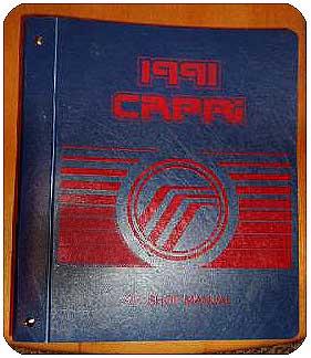 mercury capri 1991 shop repair manual with binder used modern rh shop moderncapriparts biz