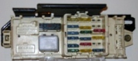 fully tested, used, mercury capri main fuse box (under dash) / mercury  capri fuse panel junction assembly (under dash)/ mercury capri main fuse box  (under